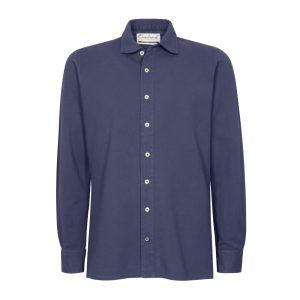 camicia piquet blu