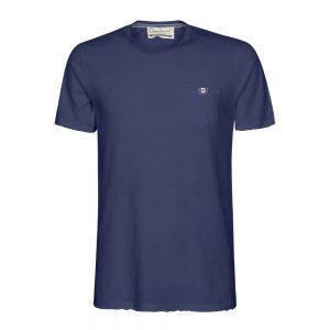 t-shirt con taschino blu