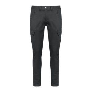 Pantaloni uomo cargo grigio