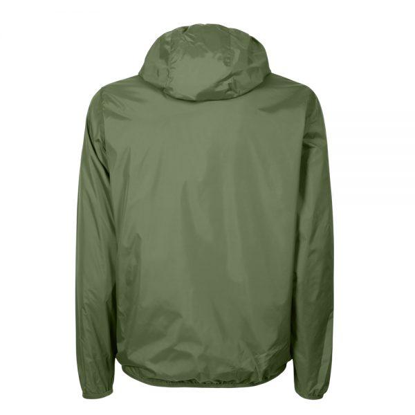 Giacca a vento foderata verde retro